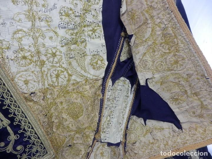 Antigüedades: t1 Maravillosa chaqueta corta, torera goyesca hilos de oro en vistas y terciopelo. fines XVIII - Foto 8 - 106176259