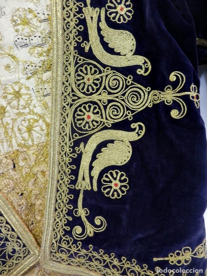 Antigüedades: t1 Maravillosa chaqueta corta, torera goyesca hilos de oro en vistas y terciopelo. fines XVIII - Foto 9 - 106176259
