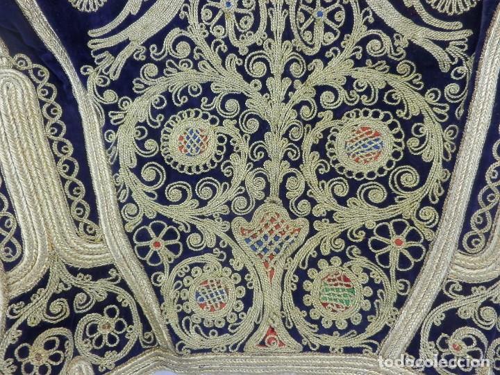 Antigüedades: t1 Maravillosa chaqueta corta, torera goyesca hilos de oro en vistas y terciopelo. fines XVIII - Foto 15 - 106176259