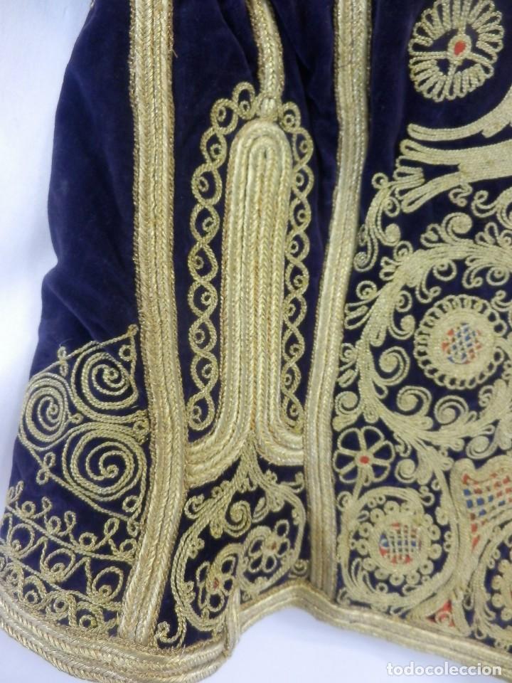 Antigüedades: t1 Maravillosa chaqueta corta, torera goyesca hilos de oro en vistas y terciopelo. fines XVIII - Foto 16 - 106176259