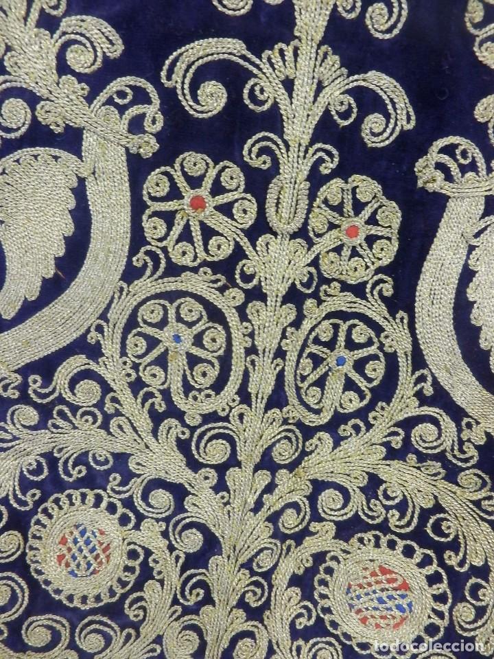 Antigüedades: t1 Maravillosa chaqueta corta, torera goyesca hilos de oro en vistas y terciopelo. fines XVIII - Foto 18 - 106176259