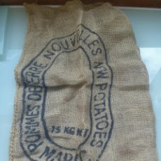 Antigüedades: SACO DE PATATAS DE MARRUECOS, DE 15 KILOS DE PAPAS. TELA BASTA DE SACO.. Lote 195002206