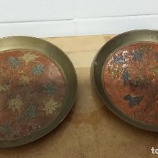 Antigüedades: 2 PLATOS METAL REPUJADO. Lote 106233067