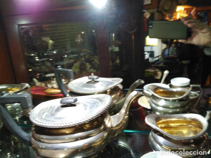 Antigüedades: ENORME GRAN JUEGO TÉ CAFÉ..PLATA 925 MACIZA 1330 gm TETERA LECHERA AZUCARERO ,2.420,00 € FIRMADO - Foto 6 - 54700326