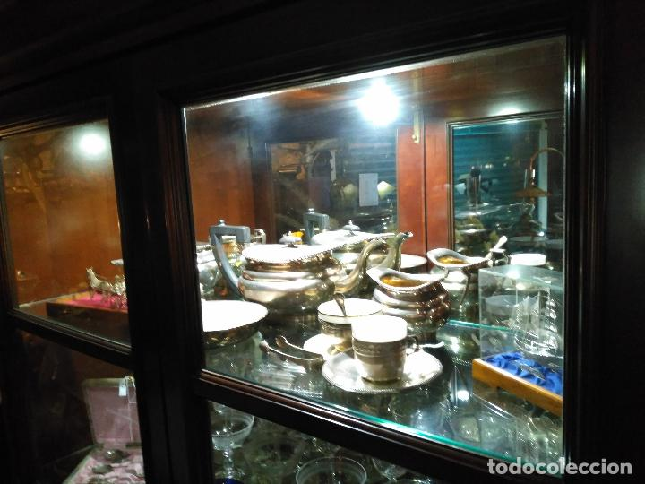 Antigüedades: ENORME GRAN JUEGO TÉ CAFÉ..PLATA 925 MACIZA 1330 gm TETERA LECHERA AZUCARERO ,2.420,00 € FIRMADO - Foto 9 - 54700326