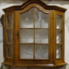 Antigüedades: VITRINA DE ROBLE DE PARED. Lote 106401227
