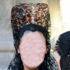 Antigüedades: MANTILLA DE BLONDA. Lote 106409827