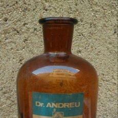 Antigüedades: FRASCO BOTE DE FARMACIA CON LA MARCA DE DOCTOR ANDREU.. Lote 106493703