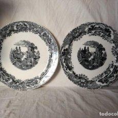 Antigüedades: PAREJA DE GRANDES FUENTES DE PICKMAN-LA CARTUJA. SIGLO XIX.. Lote 106494655