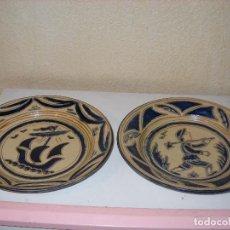 Antigüedades: DOS PLATOS DECORATIVOS FIRMADOS BUXÓ. Lote 106533611