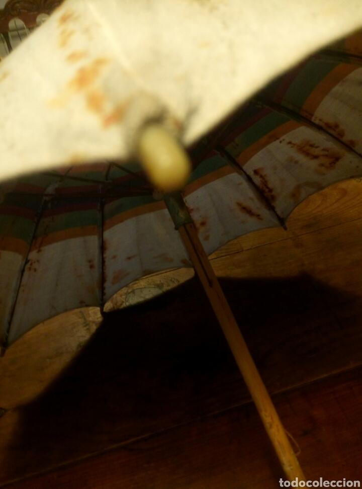 Antigüedades: Antigua sombrilla mango madera - Foto 3 - 106554816