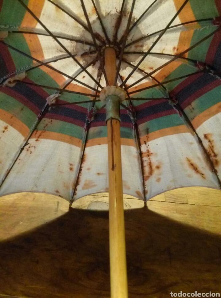 Antigüedades: Antigua sombrilla mango madera - Foto 4 - 106554816