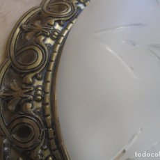 Antigüedades: LAMPARA--PLAFÓN TECHO--CRISTAL TALLADO Y BRONCE---IMPECABLE--APLIQUE. Lote 106559431