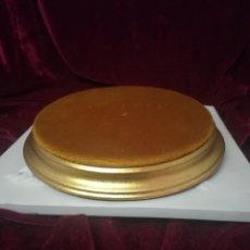 Antigüedades: PEANA PAN DE ORO 19CM DIÁMETRO DE LA CASA ALGORA. Lote 106571100