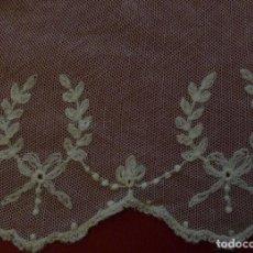 Antigüedades: ANTIGUO BAJO DE ENCAJE S. XIX . Lote 152379958