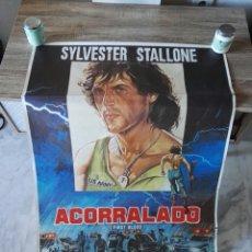 Antigüedades: CSRTEL CINE RAMBO ACORRALADO SILVESTER STALLONE. Lote 106585554