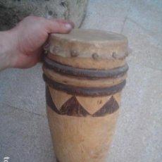Antigüedades: ANTIGUO TAMBOR ARTE TRIBAL AFRICA EPOCA COLONIAL. Lote 106593471