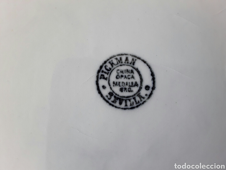 Antigüedades: Antigua palangana o aguamanil Pickman China Opaca - Foto 20 - 106598759