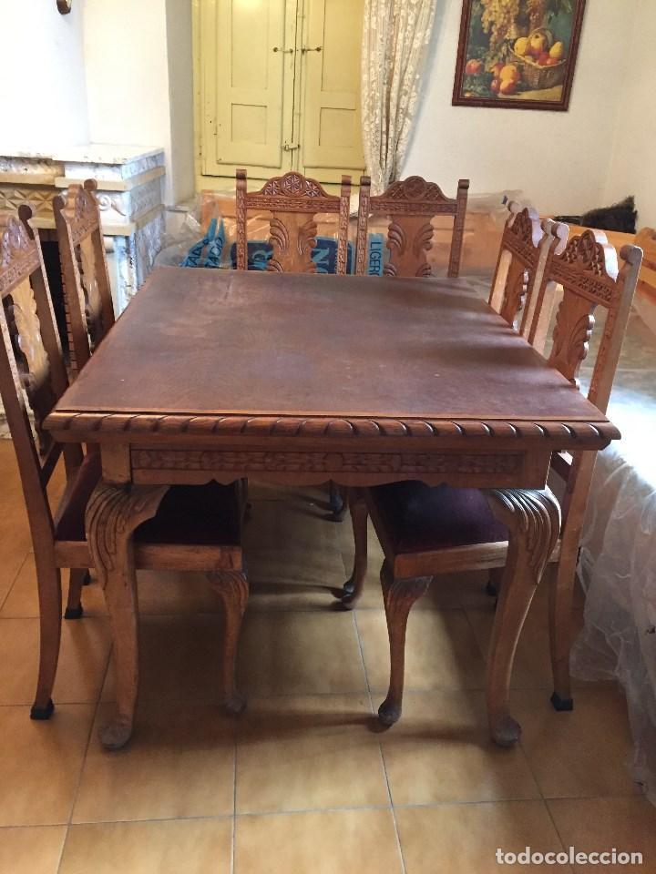 Mesa comedor extensible con 6 sillas de roble - Verkauft durch ...