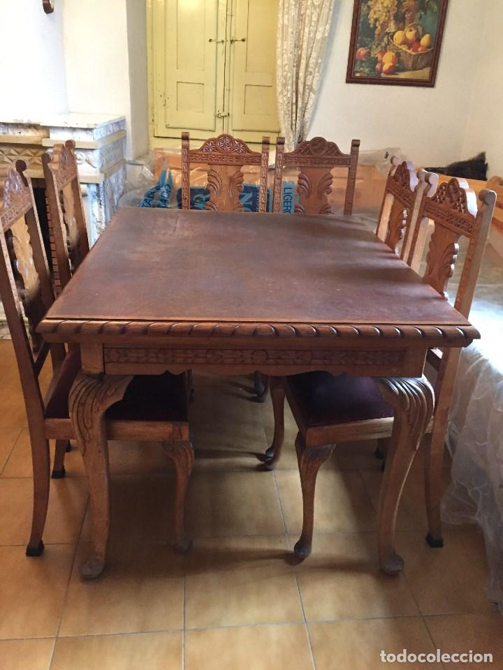 Mesa comedor extensible con 6 sillas de roble - Verkauft ...