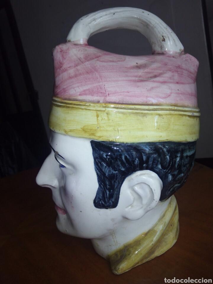 Antigüedades: Gran botijo con forma de cabeza, Manises. Muy raro - Foto 4 - 106629003