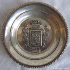 Antigüedades: PLATO PLATILLO DE PLATA 925 ESCUDO DE SANTANDER. Lote 106640415