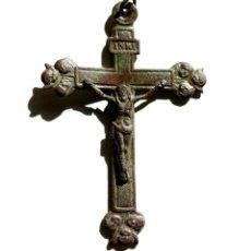 Antigüedades: ANTIGUO Y GRAN CRUCIFIJO S.XIX. Lote 106640683