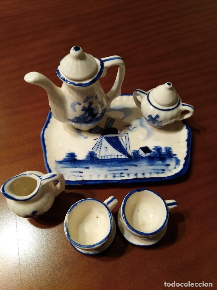 Antigüedades: MINIATURA JUEGO DE CAFÉ HOLANDÉS CON SU BANDEJITA - Foto 2 - 106656755