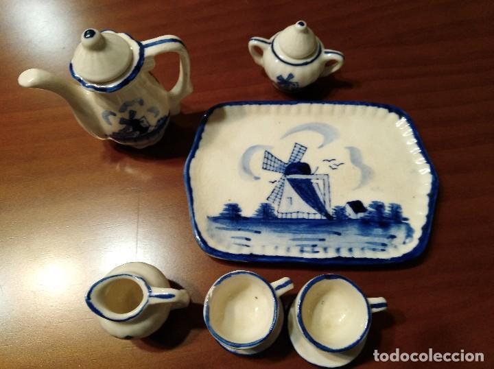 Antigüedades: MINIATURA JUEGO DE CAFÉ HOLANDÉS CON SU BANDEJITA - Foto 4 - 106656755
