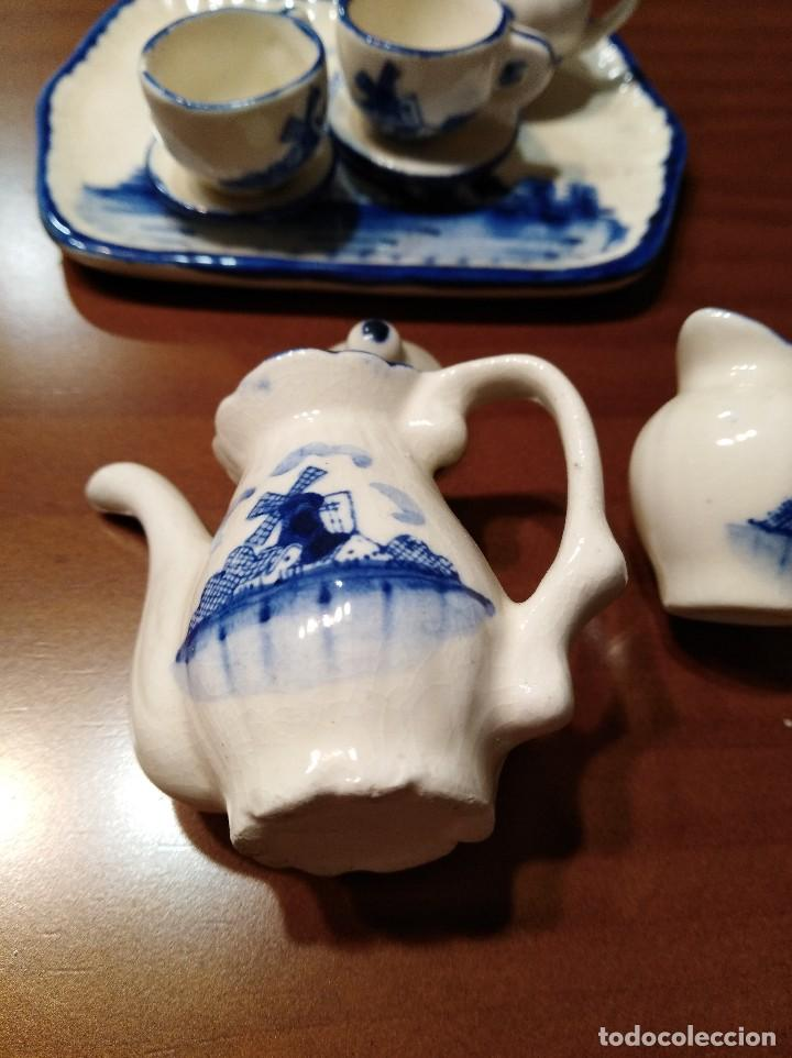 Antigüedades: MINIATURA JUEGO DE CAFÉ HOLANDÉS CON SU BANDEJITA - Foto 5 - 106656755