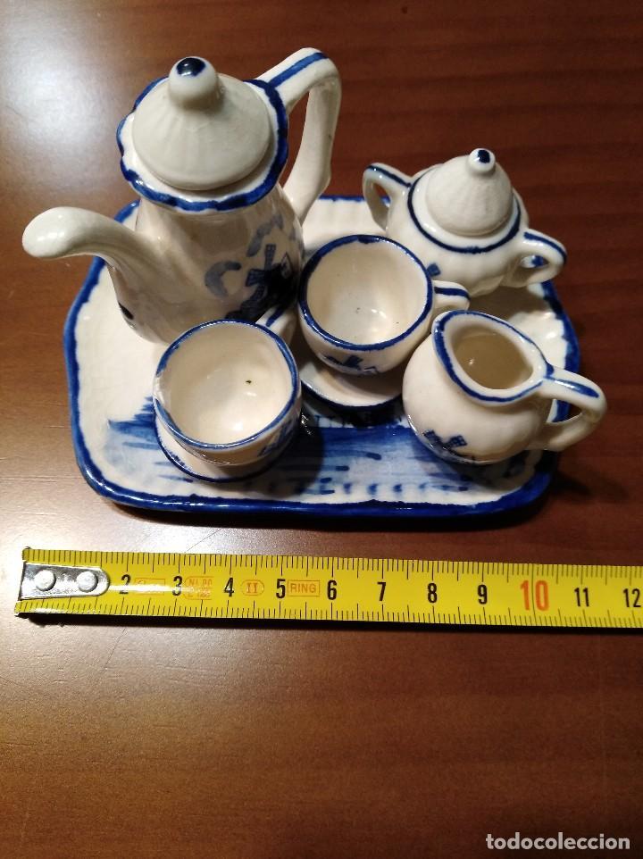 Antigüedades: MINIATURA JUEGO DE CAFÉ HOLANDÉS CON SU BANDEJITA - Foto 6 - 106656755