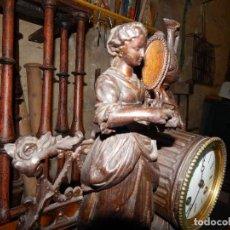 Antigüedades: ANTIGUO Y MUY BONITO RELOJ DE CHIMENEA O SOBREMESA . Lote 106663651