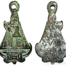 Antigüedades: MEDALLA PASTORIL DEL SIGLO XVII NUESTRA SEÑORA DE GUADALUPE -Nº 129. Lote 106669495