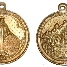 Antigüedades: MEDALLA DEL SIGLO XIX SAN BENITO ABAD/NUESTRA SEÑORA DE MONTSERRAT-Nº 135. Lote 106670383