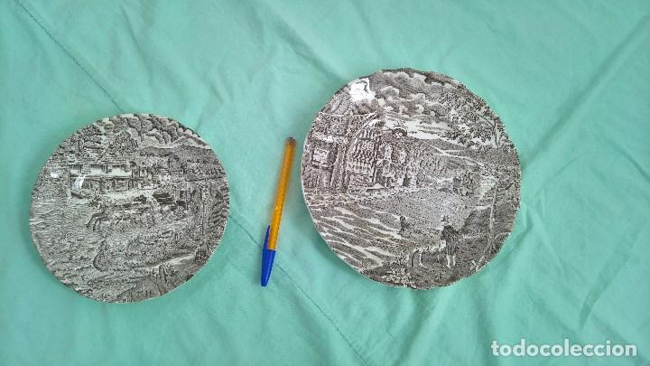 PLATOS PORCELANA PONTESA...ESPAÑA (Antigüedades - Porcelanas y Cerámicas - Otras)