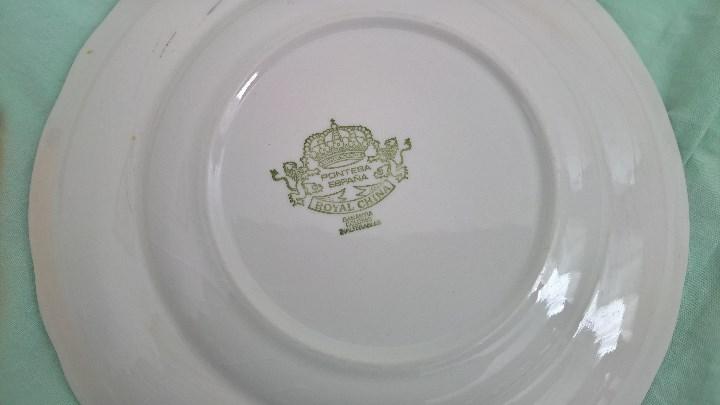 Antigüedades: platos porcelana Pontesa...España - Foto 4 - 106698415