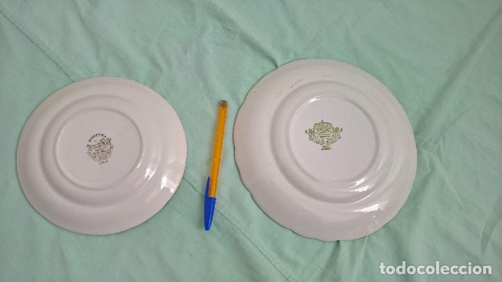 Antigüedades: platos porcelana Pontesa...España - Foto 2 - 106698415