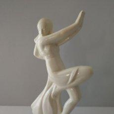 Antigüedades: JOSEP PUJOL I MONTANER - MAGNIFICA DAMA ART DECO - SELLADA CMT Y FIRMADA - 1920. Lote 106711527