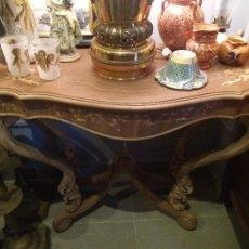 Antigüedades: MUY BONITA CONSOLA CON MARQUETERÍA. Lote 79985857