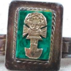 Antigüedades: PISACORBATAS DE PLATA PUNZONADA, ORO Y MALAQUITA. Lote 106766807