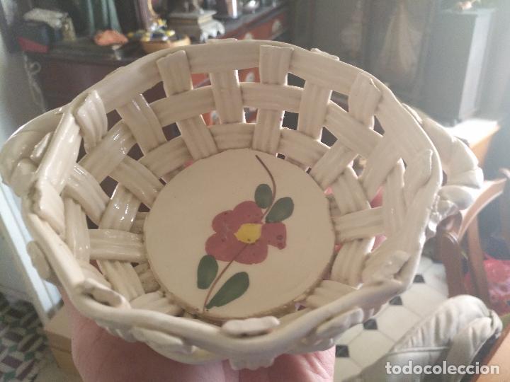 Antiguo Centro De Mesa Canasto Ceramico Realiza Kaufen Antike