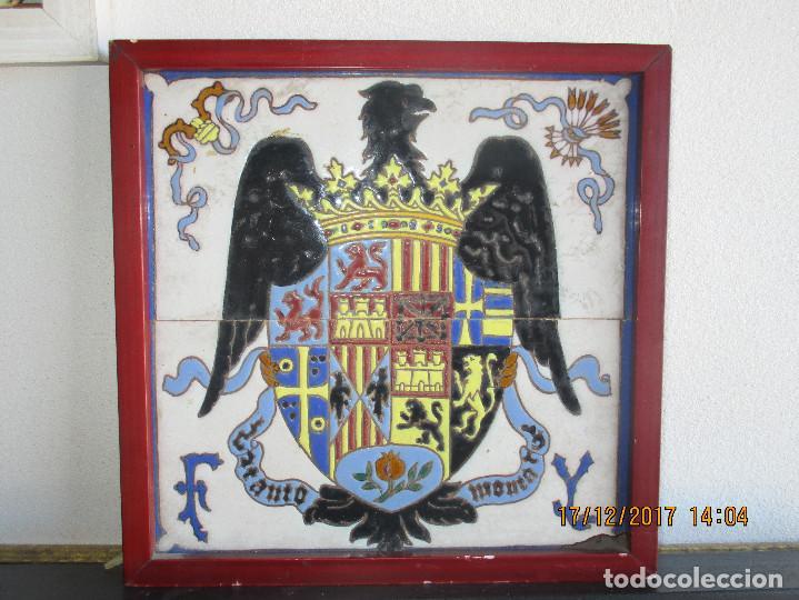 AZULEJOS JOSE MENSAQUE AGUILA DE SAN JUAN (Antigüedades - Porcelanas y Cerámicas - Triana)