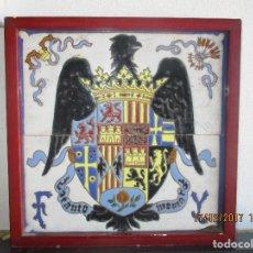 Antigüedades: AZULEJOS JOSE MENSAQUE AGUILA DE SAN JUAN . Lote 106799623