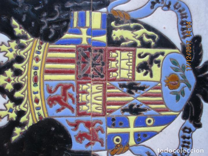 Antigüedades: Azulejos Jose Mensaque Aguila de San Juan - Foto 2 - 106799623