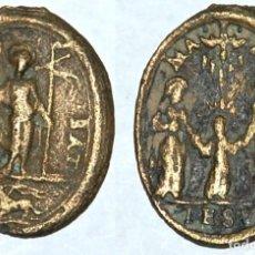 Antigüedades: MEDALLA DEL SIGLO XVII SAN JUAN BAUTISTA/SAGRADA FAMILIA-Nº 142. Lote 106802219