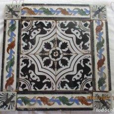 Antigüedades: COMPOSICION DE AZULEJOS DE MENSAQUE (TRIANA). Lote 106811459