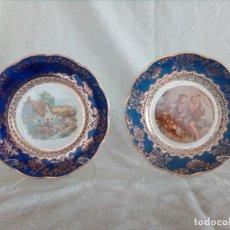 Antiquités: PAREJA DE PLATOS DECORATIVOS SAN CLAUDIO 12-57. Lote 106825763