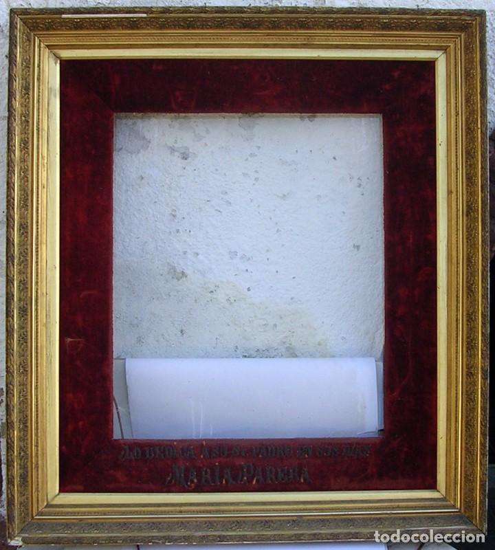 gran marco dorado. 1800. siglo xix. enorme. let - Comprar Marcos ...