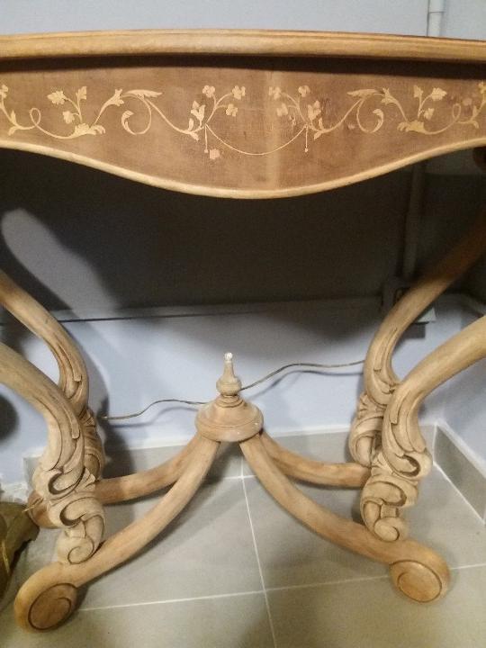 Antigüedades: MUY BONITA CONSOLA CON MARQUETERÍA - Foto 6 - 79985857
