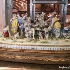 Antigüedades: PORCELANA BACANAL DE CAPODIMONTE 1900. Lote 106916395